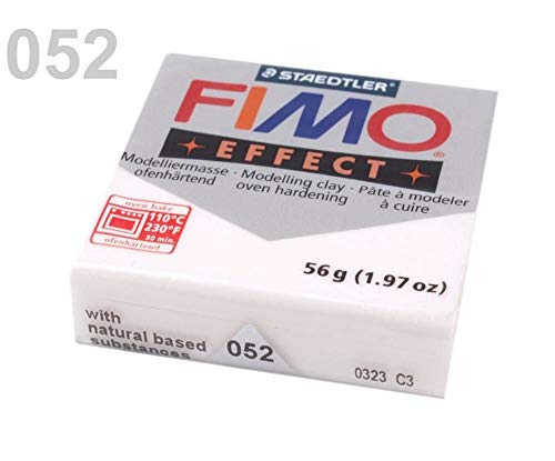 (1pc 052 White Glitter FIMO Polymer Modelling Clay 56-57g Effect, Craft & Hobbies)