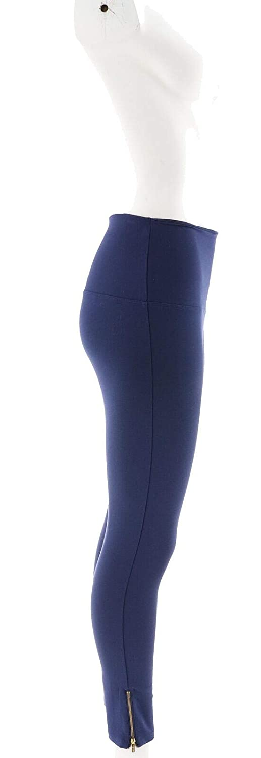IMAN Runway Chic Perfect Ponte 360º Slimming Legging Wide NAVY M Avg NEW 561-750
