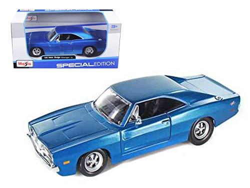 1969 Dodge Charger R/T Blue 1:25 Diecast Model Car ()