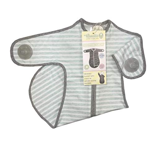 Woombie Soothie Sack Sleeping Sack with Pacifiers, Built in Pacifiers Promotes self Soothing (3-6 M)