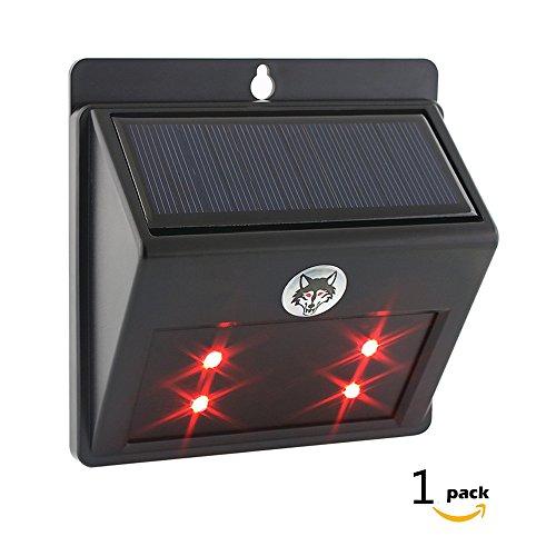 Allisandro Solar Wildschutz Abschreckung Vertreibungslicht 4 LED Blinklicht Schützt vor wilden Tieren [Energieklasse A+++] - 1 Pack