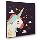 Unicorn Bottom CANVAS Wall Art Home Décor