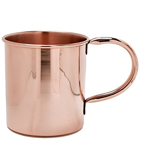 100% Pure Solid Copper Moscow Mule Mug - 16 Oz Capacity