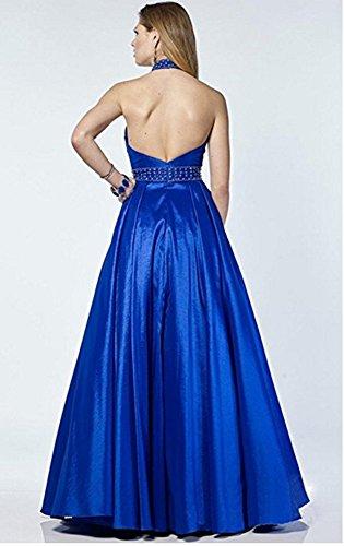 A Royal Blue Abendkleider Line BallKleider Bainjinbai Lang Halter Festkleider Brautjungfernkleider 4UZqxT
