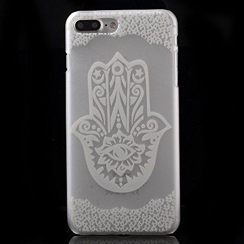 Translucent Hard PC Tasche Hüllen Schutzhülle - Case für iPhone 7 Plus - Hamsa Hand of Fatima