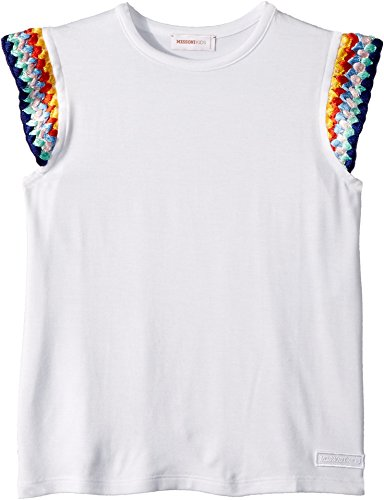Missoni Kids Baby Girl's Jersey T-Shirt (Toddler/Little Kids) White 6-7 by Missoni Kids