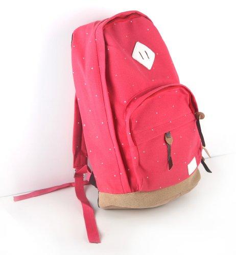 JNTworld Women men unisex Backpack Knapsack Shoulder School Bag Bookbag Backbag , 15L, 02 Red