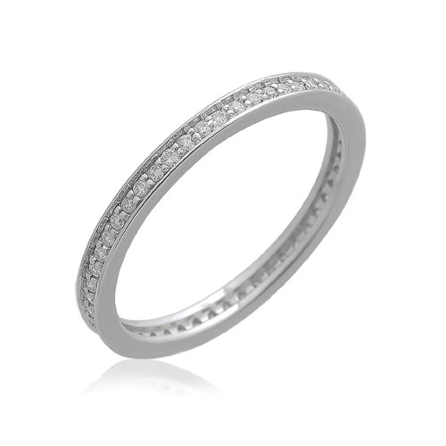 IGI Certified 14k White Gold Pave Set Eternity Wedding/anniversary Diamond Band Ring (1/4 Carat)
