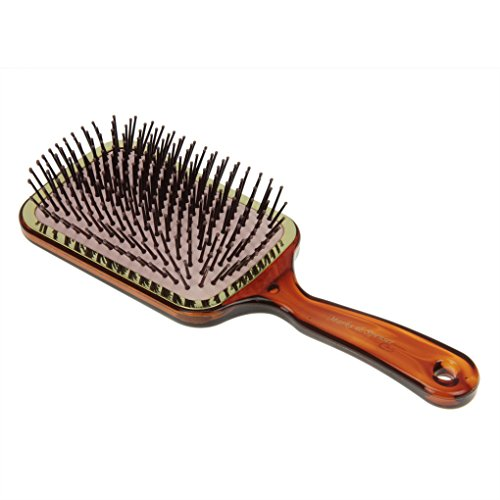 Greenery New Large Professional Paddle Brush Comb Anti Static Ceramic Hair Straightener Curly Hairdressing Detangling Pins Comb Cushion Massage HairBrush Comb
