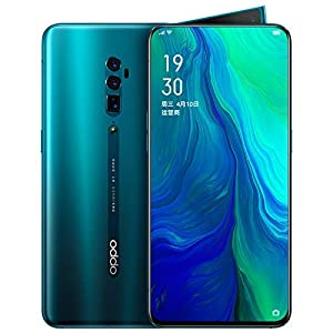Original Oppo Reno 10x Zoom 6G+128G Mobile Phone Snapdragon 855 Android 9 Octa Core 48MP Cam OIS NFC 6.6″ AMOLED VOOC 3.0 4065mAh Support Google by-(Real Star Technology) (Green)
