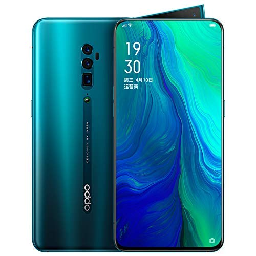 "Original Oppo Reno 10x Zoom 6G+128G Mobile Phone Snapdragon 855 Android 9 Octa Core 48MP Cam OIS NFC 6.6"" AMOLED VOOC 3.0 4065mAh Support Google by-(Real Star Technology) (Green)"