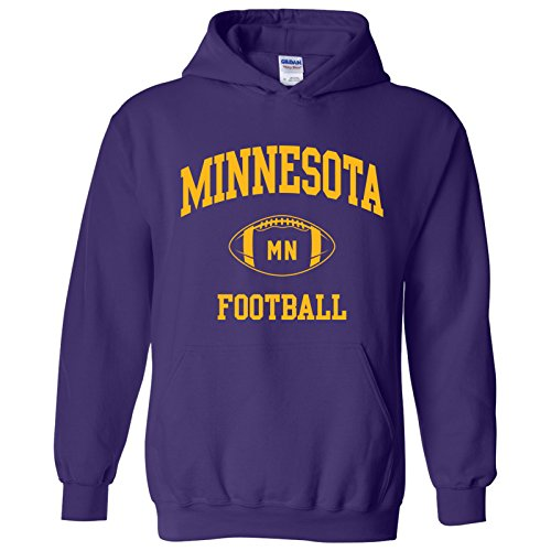 Minnesota Classic Football Arch American Football Team Sports Hoodie - 2X-Large - Purple