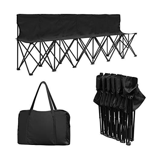 Giantex Portable 6 Seats Folding Chair Bench