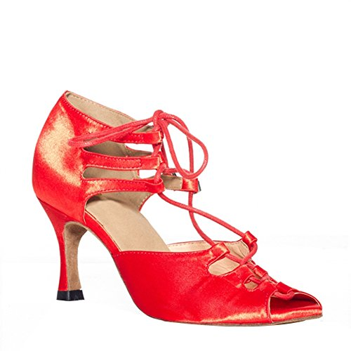 Mujer Danza Para De Misu Zapatillas Rojo 7wxqItEpn