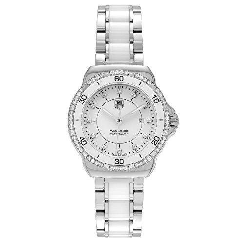 (Tag Heuer Womens WAH1313.BA0868 'Formula 1' 1/3 CT Diamond Stainless Steel Ceramic Bracelet Watch)