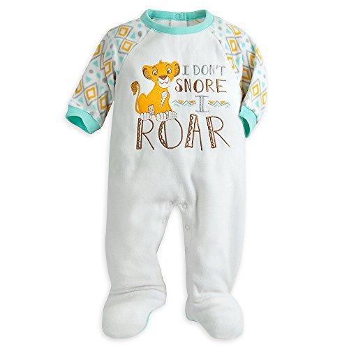 Disney Simba Blanket Sleeper for Baby Size 12-18 MO White