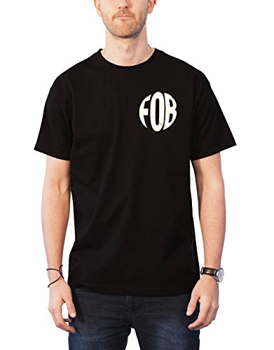 Fall Out Boy T Shirt Young and Menace Mania Band Logo Official Mens Black Size XL