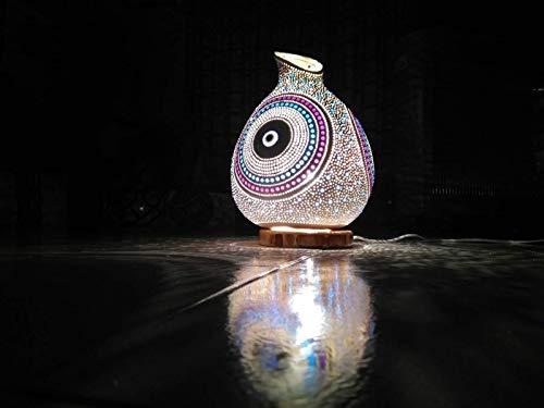 (Now 160 Color Options Best Seller Evil Eye Gourd Lamp Shade Night Light Unique Birthday Gift Idea Boho Home Decor)