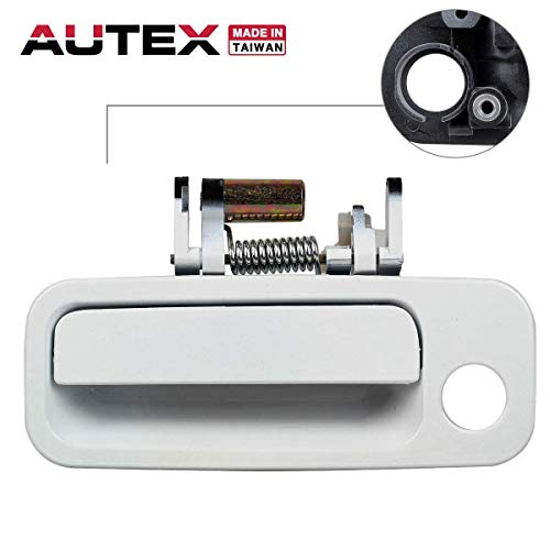 AUTEX 1pc White Exterior Door Handle-Front Left (Driver Side) Compatible with 1997 1998 1999 2000 2001 Toyota Camry (Bulit In Japan) 79426CD, 69220-AA010, 69220-33040, 69220-33040-C0, ()