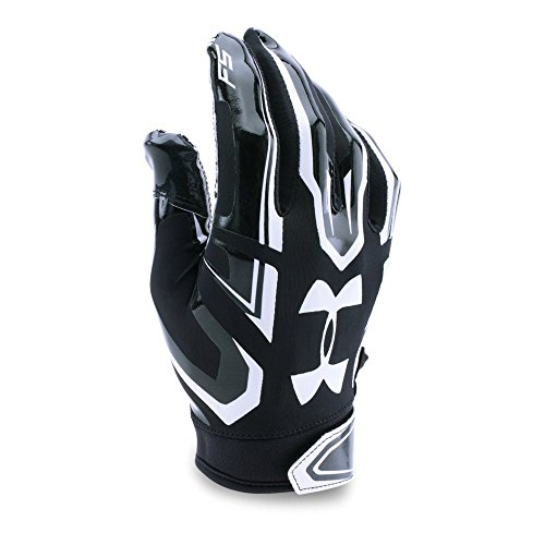 Under Armour Men's F5 Football Gloves, Black/White, Large