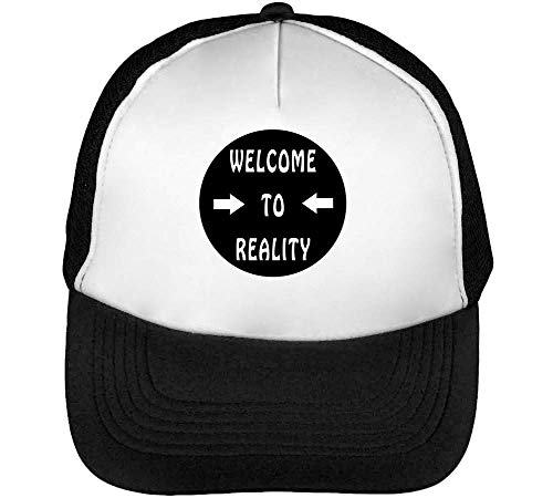 Welcome To Reality Arrow Fashioned Gorras Hombre Snapback Beisbol Negro Blanco