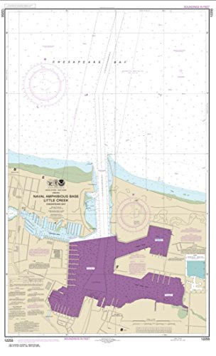 NOAA Chart 12255-Little Creek Naval Amphibious Base - Water-Resistant - by East View Geospatial