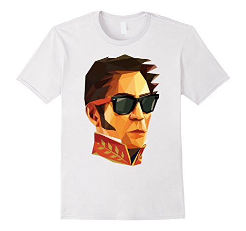 Mens Simon Bolivar Cool Funky T Shirt XL White