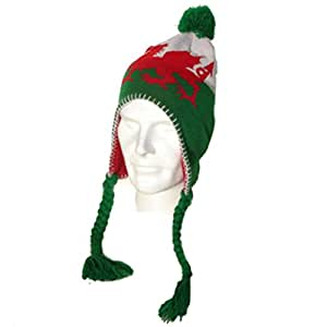Bandera de Gales forro polar tejidos Peruvian Sherpa sombrero [PND]