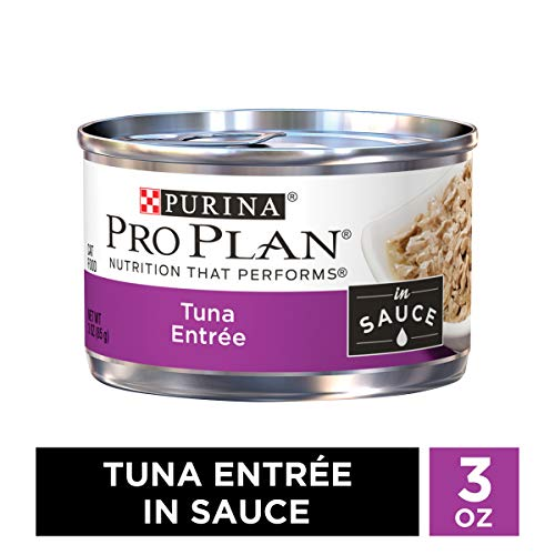 Purina Pro Plan Wet Cat Food, Tuna Entree in Sauce – (24) 3 oz. Pull-Top Cans