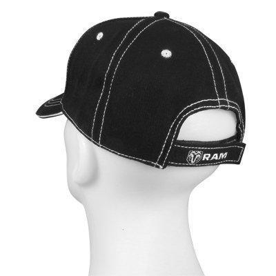 Official Licensed Hot Rods Plus 4350412207 Dodge RAM Logo Black Baseball Hat
