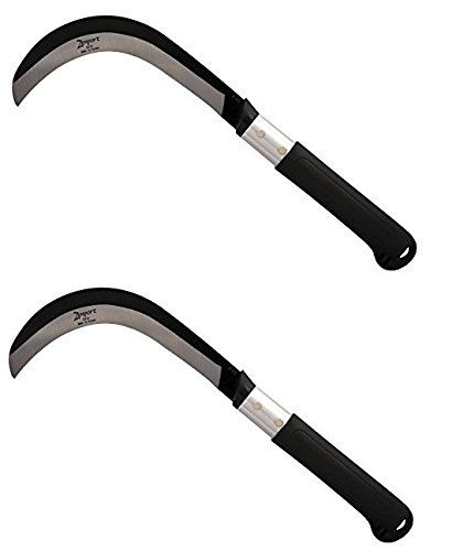 Zenport K310 Brush Clearing Sickle with Carbon Steel Blade and Aluminum Handle, 9'' (2-Pack) by Zenport