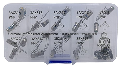 Germanium Transistor Assortment 20 pcs NPN PNP hfe fuzz gain incl 20 Transistor Socket by 3pdt (Image #2)