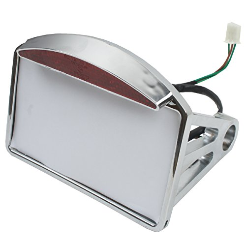 XMT-MOTO New Side Mount LED License Bracket Plate Tail Light For Chopper Harley Softail by XMT-MOTO (Image #4)