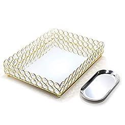 Lindlemann Mirrored Crystal Vanity Tray ...