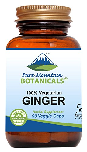 Ginger Capsules Kosher 1000mg Organic