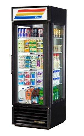 True GEM-23-LD Series Glass Swing Door One Section Reach-In Merchandiser Refrigerator -