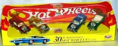 Hot Wheels Collectibles 30th Anniversary 4 Car Boxed Edition Set