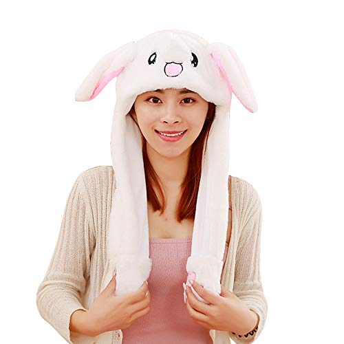 Welding Equipment Trustful Stylish Ears Will Move The Rabbit-shaped Hat To Keep Warm The Balloon With The Light White Pink Boy And Girl Can Wear