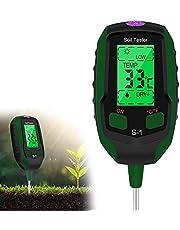 Esimen Upgraded 4-in-1 Soil PH Meter, Soil Tester Moisture with Light/PH/Temperatur, Digital Plant Thermometer Test, Moisture Meter Light for Gardening, Farming, Indoor and Outdoor Plants