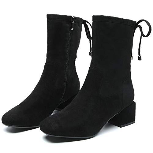 new style 72475 afa4c Phy scarpe scarpe scarpe Autunno e Inverno pi ugrave  Stivali di Velluto  Stivali da Donna Europei e Americani puntati Selvaggi Donne col Tacco Alto  ...