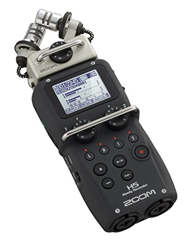 Zoom H5 Four-Track Portable Recorder w/Resident Audio R100 Headphones – Bundle