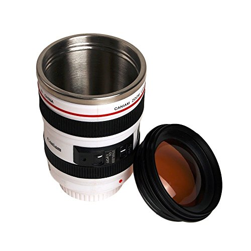 Camera Lens Shape Cup Coffee Tea Travel Mug Stainless Steel Vacuum Flasks worldwide - Buffy Sunglasses