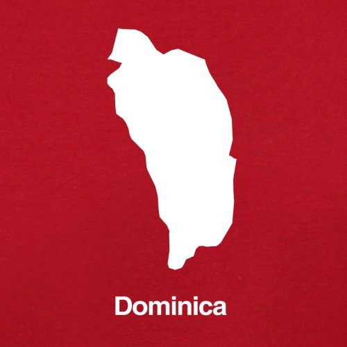 Dominica Silhouette - Herren T-Shirt - Rot - XXXL