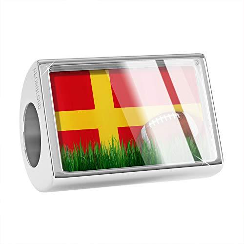 NEONBLOND Charm Football with Flag Alsace (Alsace) Region France Bead