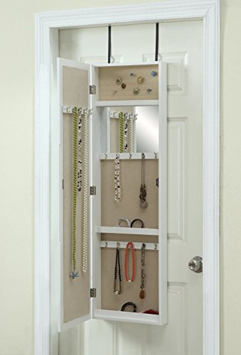 Hives and Honey Miley Over the Door Jewelry Armoire with Mir