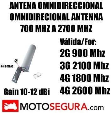 Antena Exterior OMNIDIRECIONAL gsm 3G 4G 900 2100 1800 MHz ...
