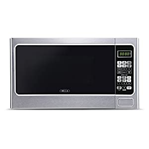 Bella BMO11ABTBKC 1000W Family-Sized Digital Microwave Oven, 1.1 cu. ft., Stainless Steel and Black