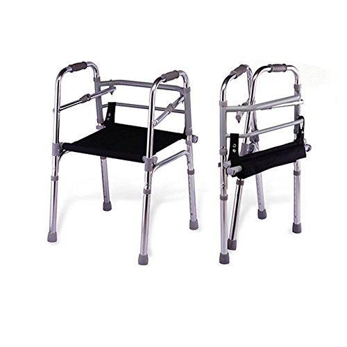 Kosmocare Light Weight Aluminum Height Adjustable Walker With Seat