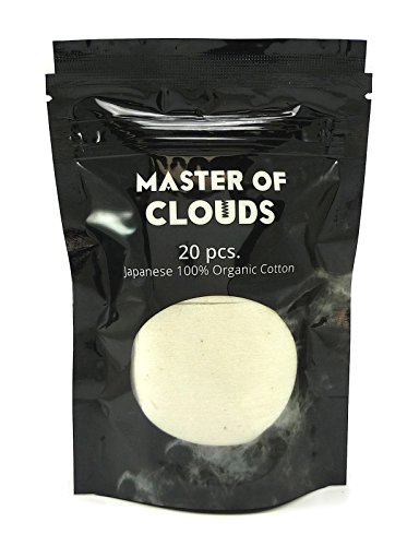 20 Pack - Japanese 100% Organic Unbleached Cotton Pads (Best Vapes For Clouds Cheap)