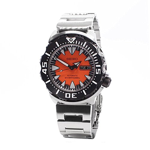 Divers Dial Automatic Orange (Seiko Automatic Diver Black and Orange Dial Stainless Steel Mens Watch SRP315K2)